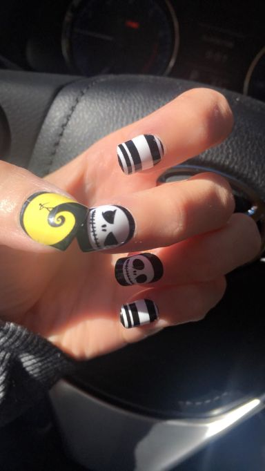 nightmare before christmas nails by jennifer baker jenb_beautiful instagram